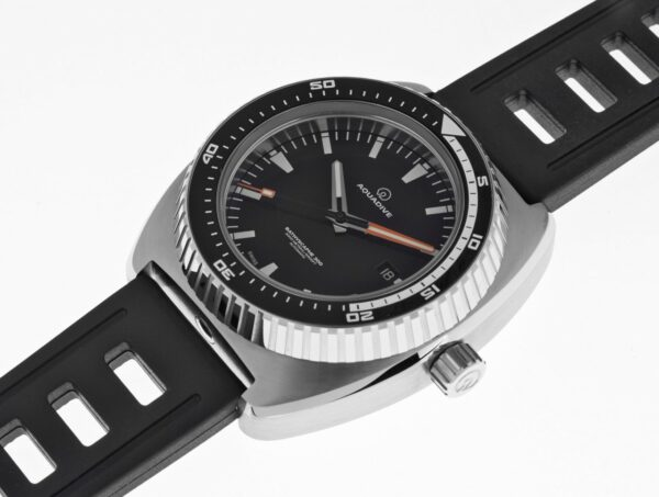 AQUADIVE Bathyscaphe 300 stainless steel on isofrane rubber