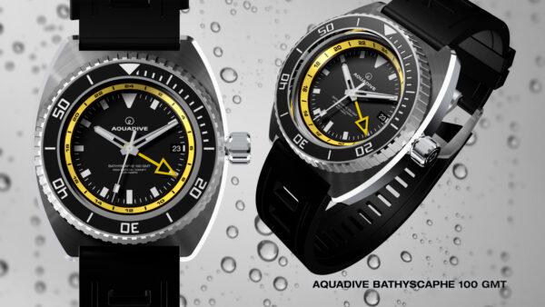 AQUADIVE Bathyscaphe 100GMT / yellow