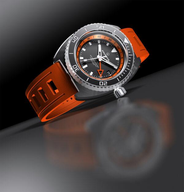AQUADIVE Bathysphere 100GMT orange inner bezel
